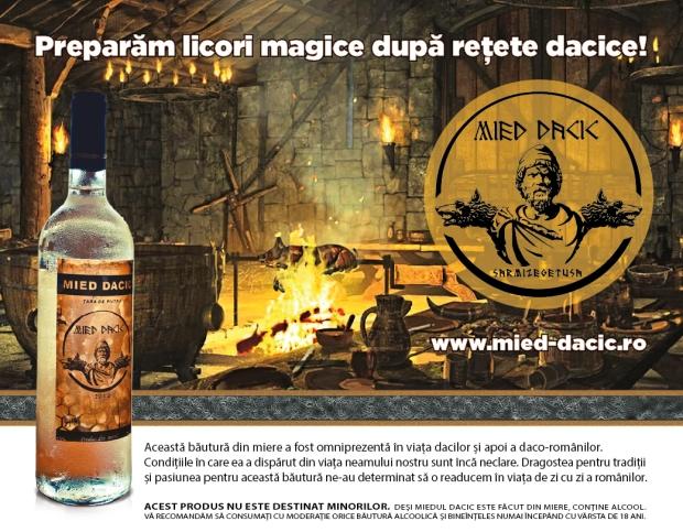 Reclamă la Mied Dacic în revista Harap Alb continuă